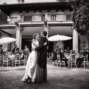Fotografía del baile nupcial