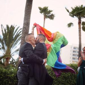 Fotografía boda gay en Málaga
