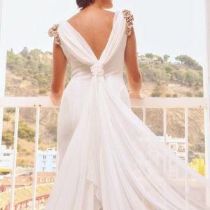 Detalles del vestido de la novia