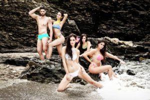 Míster Internacional Málaga 2016 en su pose con varias modelos malagueñas