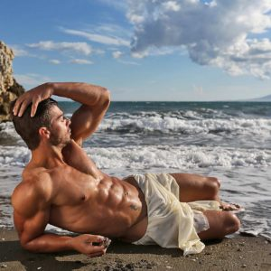 Sesión fitness en las playas de Málaga
