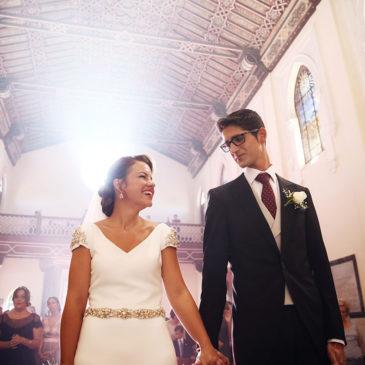 Marina y Javi, una boda en el Seminario de Málaga