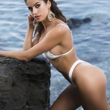 En la playa con Nena Gómez
