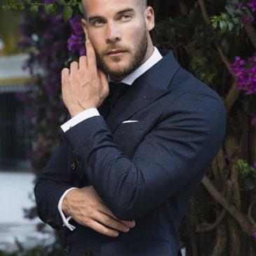 Sesión de moda masculina con look Lebrel